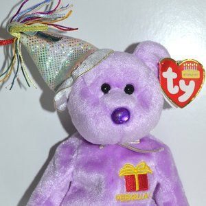 February Birthday Bear TY Beanie Babies